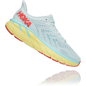 Hoka One One Clifton 7 Wide Hardloopschoenen Dames, morning mist/hot coral